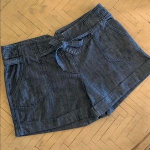 New York & Co Jean Shorts Tie Belt Size 12 EUC